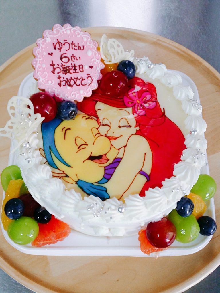 アリエルとフランダーのバースデー 千葉 オリジナルケーキ販売 菓子工房ノア Noah